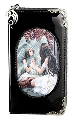 Gothic Portemonnaie mit 3D Motiv | Magic Mirror von Anne Stokes | Engel Geldbörse Fantasy Geldbeutel Lack