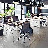 Tapis Protège-Sol Office Marshal® NEO Pour Parquets, Stratifiés, Lino | Tapis de Bureau Transparent en Vinyle | 11 Tailles au Choix | Epaisseur env. 1,5mm | 75x120cm