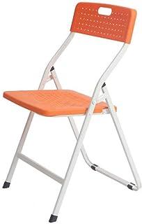 RONGJJ Silla de Escritorio Moderna Silla Plegable Silla de Escritorio Silla de Respaldo de Oficina Acolchada Naranja Asiento de Comedor doméstico de plástico,