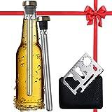 Best Beer Chiller Sticks for Bottles and Cap Opener 2 Pack - Beer Gifts Idea for Men & Women - Top...