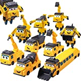 Gifts2U Mix and Match Cars, Magnet Blocks of Take Apart Vehicles Transform into Robot Toys, Deformation Robot STEM Engineer Construction Trucks, Learning Toy for Kids Toddlers