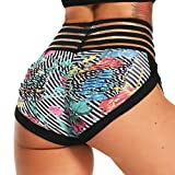 Pantalones Cortos Leggings Mujer Mallas de Yoga Alta Cintura Elásticos y Transpirables #4 Floral...