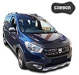 Protezione Cofano Dokker Lodgy CARBON Copertura Cofano Car Bra Auto NERO Front Maschera Bonnet Tuning