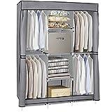 SUPER DEAL Portable Wardrobe Closet Clothes Organizer with...