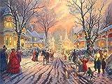 LHZBB Rompecabezas para adultos, 1000 piezas, diseño victoriano de Navidad por Thomas Kinkade | Rompecabezas de 1000 piezas para adultos y adolescentes juguetes de bricolaje (29.5 x 50.0 cm)