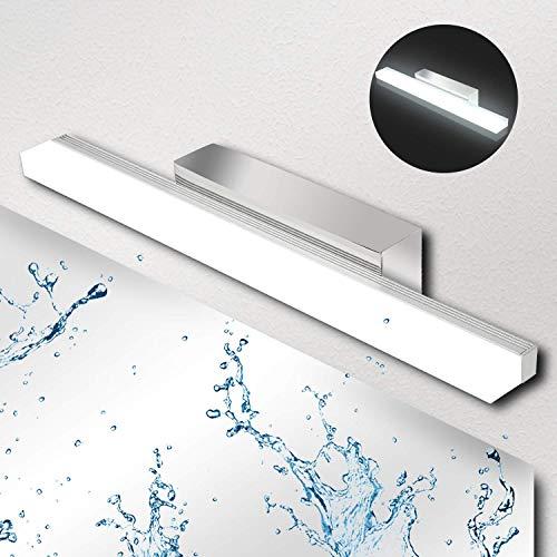 Lámpara de Espejo Baño LED 9W Ketom IP44 Aplique Espejo LED Blanca Neutra 4000K LED Lámpara de espejo 900LM Lámpara de Pared Espejo de Acero Inoxidable Para Maquillaje, Espejo, Baño, 40cm