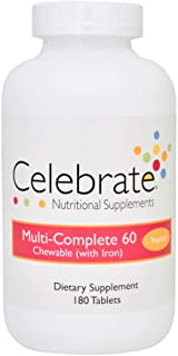Celebrate Multi-Complete 60 with Iron - Tropical - 180 Count