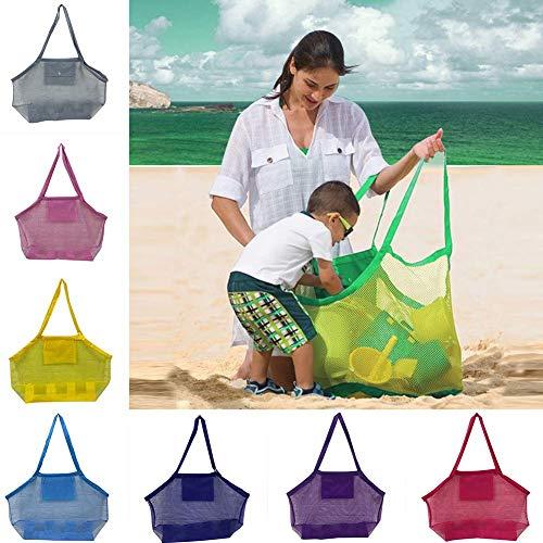 Mesh-Strand-Beutel-großen Kapazitäts-Strand-Einkaufstasche, bewegliche Retro Spielzeug Taschen, Leicht Spielzeug Aufbewahrungstasche, Einkauf Picknick Tote zcaqtajro