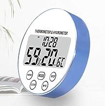 Temperatura interior Humedad medidor electrónico de alta precisión con temporizador imán pared Colocación Comfort Indicator for el almacén industrial ( Color : Blue )