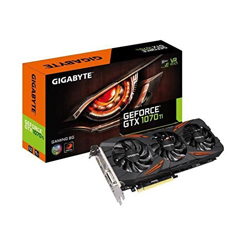 Gigabyte GeForce® GTX 1070 Ti Gaming 8G - Cartes Graphiques (GeForce GTX 1070 Ti, 8 Go, GDDR5, 256 bit, 7680 x 4320 Pixels, PCI Express x16 3.0)