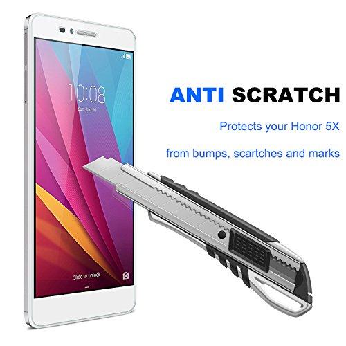 NEARPOW [3 Stück] Huawei Honor 5X Panzerglas Displayschutzfolie, Schutzfolie 9H Härte, Anti-Kratzen, Anti-Öl, Anti-Bläschen, Anti-Fingerabdruck - 2