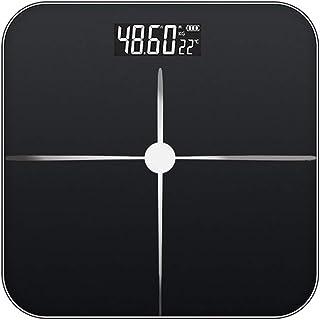 Báscula de Grasa Corporal, báscula de Peso Digital, medición precisa y Estable, Adecuada para Todas Las Personas, báscula de Peso electrónica multifunción Recargable con inducción automática