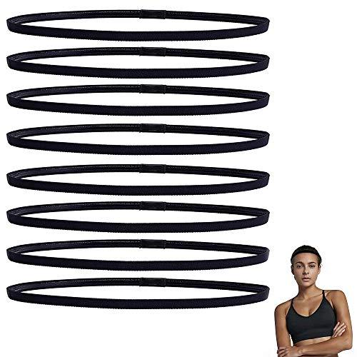 AILANDA 8ST Haarband Sport Stirnband Antirutsch Sporthaarband für Herren Damen Jungen Mädchen Elastische Kopfband Headband für Laufen Fußball Fitness Tennis Joga
