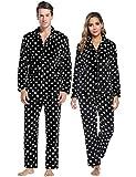 Abollria Pijamas Traje De Invierno Franela para Hombre Mujer Servicio A Domicilio Manga Larga 2 Piezas Conjunto De Pijama para Hombre Mujer,Ropa De Noche Manga Larga Y Pantalones Largos Suave Y Cómodo