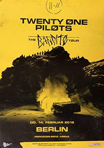 Twenty One Pilots - The Banditos, Berlin 2019 » Konzertplakat/Premium Poster | Live Konzert Veranstaltung | DIN A1 «