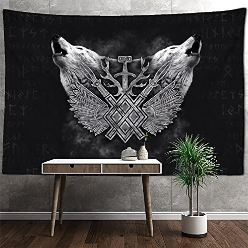 Tapiz literario vikingo para colgar en la pared, manta de tapiz de playa mágica, tapiz de tela de fondo hippie bohemio para colgar en la pared, A6 180X230CM