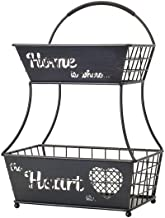 Gourmet Basics by Mikasa 5234926 Home Heart Fruit Basket, One Size, Black
