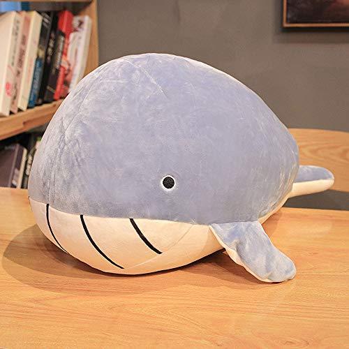 FFXZL Knuffel Blue Whale Shark Pluche Dons Katoenen Liggend Kussen Baby Walvis Moeder Kussen Gevulde Zee Oceaan Dier Reus Knuffelen Zacht Kussen Vis Speelgoed