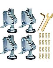 M10 Meubel-nivelleringsvoeten, 4 stuks, in hoogte verstelbare poten, voor zware belasting, kastvoeten, verstelbaar, meubelpoten voor tafels, werkbank, kasten, meubels, planken met schroeven, contramoeren.