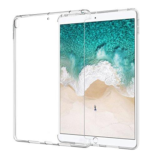 ATiC Smart Cover per iPad Pro 10.5 - Custodia Morbido Flessibile Silicone TPU,Posteriore Protettivo di Gomma, Trasparente Retro Copertura per Apple iPad Pro 10.5 Inch 2017 Tablet, Chiaro
