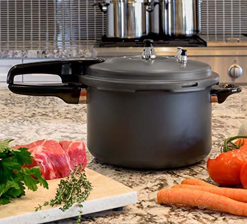 Barton 74Quart Pressure Cooker Stovetop Pot Lightweight Pressure Regulator Fast Cooking Steam Release Valve Titanium Matte