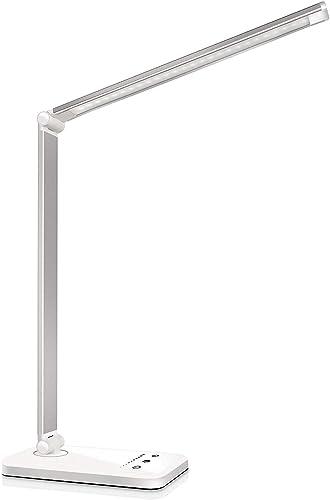Lampada da Scrivania LED Protezione Degli Occhi, lampada Touch Control Pieghevole per cameretta,ufficio, con porta di...