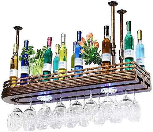 Rode wijn bekerhouder Planken hangende Paint Polijsten Bronze Wijnkast Double Rack Opknoping Bar High Glass Rack 60x27x12cm rek van de wijn (尺寸 Afmetingen: 80 * 25 * 12 cm) WKY ( Size : 80*25*12cm )