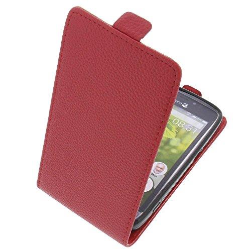 foto-kontor Tasche für Doro 8031 Smartphone Flipstyle Schutz Hülle rot