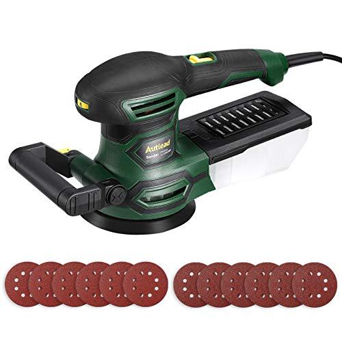 Exzenterschleifer, AUTLEAD PRS03A, 450W und 13000 RPM Schleifmaschine mit Staubsammelbox, 20 Schleifpapiere und 3 Polierkits