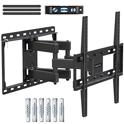 Eono by Amazon - Soporte TV Pared Giratorio y Inclinable para la Muchos 26-55 Pulgadas (66cm-140cm) LED, LCD, OLED y Plasma Televisore hasta VESA 400x400mm y 45kg, con Tacos Fischer, Soporte TV PL2380