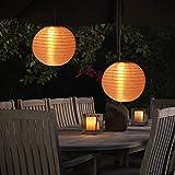 Lanterne solaire - Lampion extérieur - Lanterne LED étanche IP55 - Éclairage solaire pour jardin, balcon, cour, mariage, Noël, fête - Lanterne de jardin 30 cm