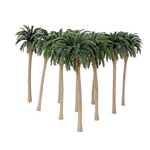 10pcs Palme Da Cocco Verdi Modello 1/75 13cm