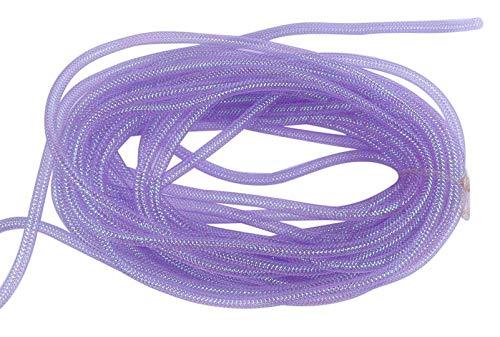 YYCRAFT One Roll 30 Yards Solid Mesh Tube Deco Flex for Wreaths Cyberlox CRIN Crafts 8mm 3/8-Inch (Shinny Lavender)