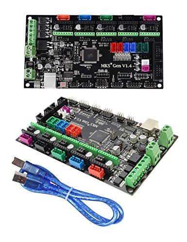 Stampante 3D MKS Gen V1.4 Makerbase Ramps1.4 Scheda madre 3D di stampa Scheda di controllo Mega 2560 R3 compatibile con USB (MKS Gen V1.4)