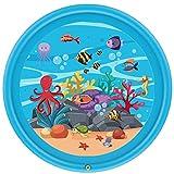 MROSW Kinderbecken, aufblasbare Wasser-Spray-Pad, Spaß Splash Pad Outdoor Wasser Pad Spielzeug, Junge, Mädchen, Junge, Kinder Sprinkler Pool