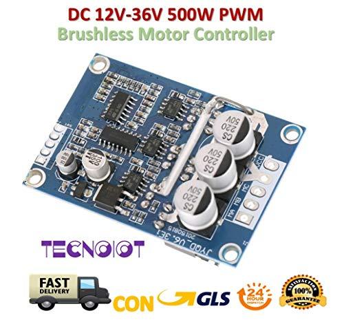 TECNOIOT DC 12V-36V 500W PWM Brushless Motor Controller Balanced BLDC Car Driver Board