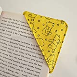 Corner Bookmark - Yellow WInnie The Pooh Bear | Gift for a Bookworm Reader | Birthday Gift Handmade by Sew This Sew That | Book lover present | Page marker | Protective Corner Bookmark