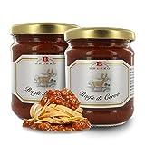 Brezzo Ragú de Carne de Ciervo | Selección de Salsas Italianas para Pasta | 190 Gramos