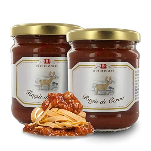 Ragú de Carne de Ciervo | Selección de Salsas Italianas para Pasta | 190 Gramos (Paquete de 2 Piezas)