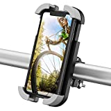 Beemoon Bike Phone Mount- Universal Adjustable Motorbike Phone Mount, Motorcycle Handlebars Anti-Shake Phone