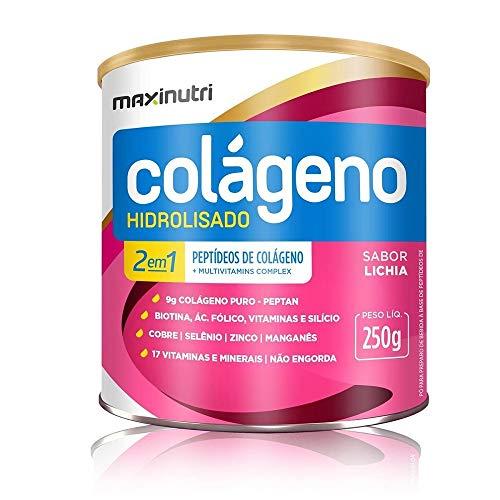 Colágeno Hidrolisado 2 em 1 Zero (250G) - Sabor Capuccino, Maxinutri