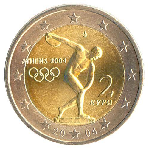 2 € Grecia 2004 Olimpiadi di Atene