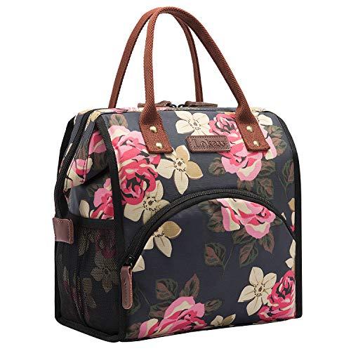 NiceEbag Lunch Bag Insulated Lunch Box Wide-Open Lunch Tote Bag Drinks Holder Durable Nylon Snacks Organizer for Women Men Boys...