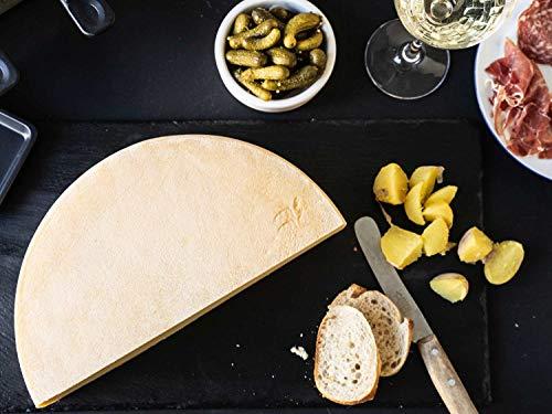 RACLETTE KÄSE - AKTION: Schweizer Raclettekäse 'RACLETTE SWISS' als 1x ganzer Käse Laib 5 kg - VAKUUMVERPACKT - Laktosefrei - Vegetarisches Lab - Aus bester Sommermilch