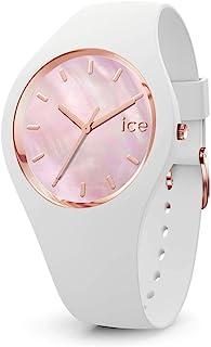 Ice-Watch - ICE pearl White pink - Montre blanche pour femme avec bracelet en silicone