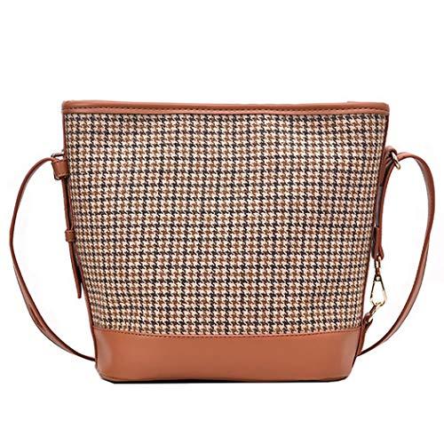 Fanspack Bolso de Cubo para Mujer Bolso de Mano de Bandolera de Gran Capacidad Bolso de Hombro a Juego de Moda Bolsos de Mujer