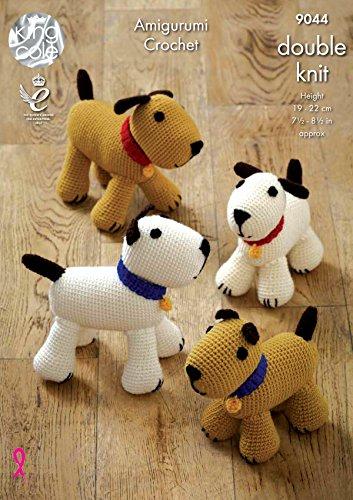 King Cole 9044 Haak Patroon Amigurumi Speelgoed Honden in Merino Blend DK