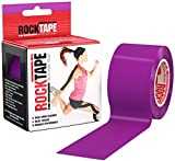 RockTape Original 2-Inch Water-Resistant Kinesiology Tape, 16.4-Foot Continuous Roll, Purple