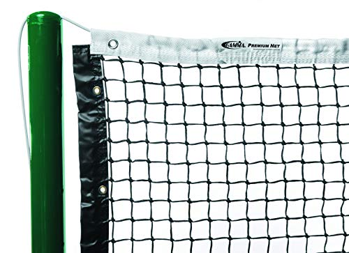 Gamma Premium Tennis Net, Polyester or Vinyl Headband, 2.6 MM to 3.5 MM