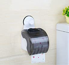 Srxes Self Adhesive with Suction Cup Toilet Paper Holder Plastic Tissue Roll Holder